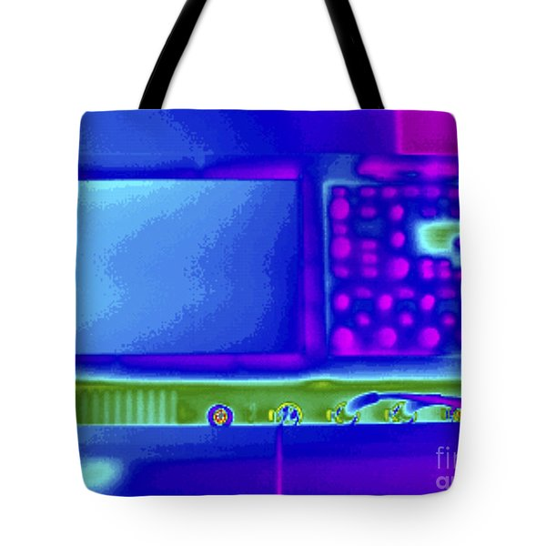 Thermogram Of An Oscilloscope Tote Bag