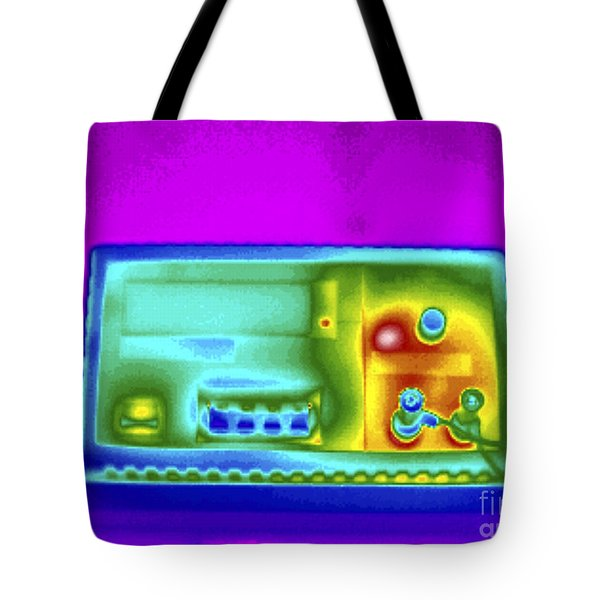 Thermogram Of Dc Power Supply Tote Bag