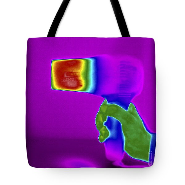 Thermogram Of Hair Dryer Tote Bag