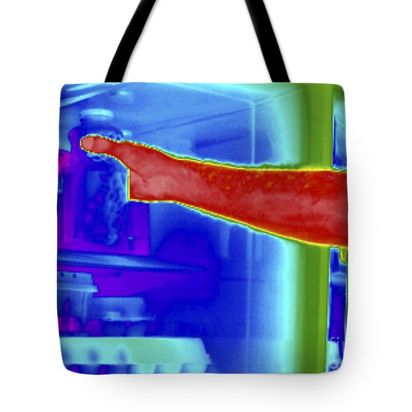 Thermogram Of Hand In Refrigerator Tote Bag