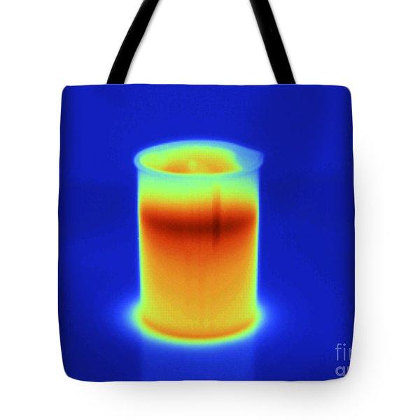 Thermogram Of Hot Water In Beaker Tote Bag