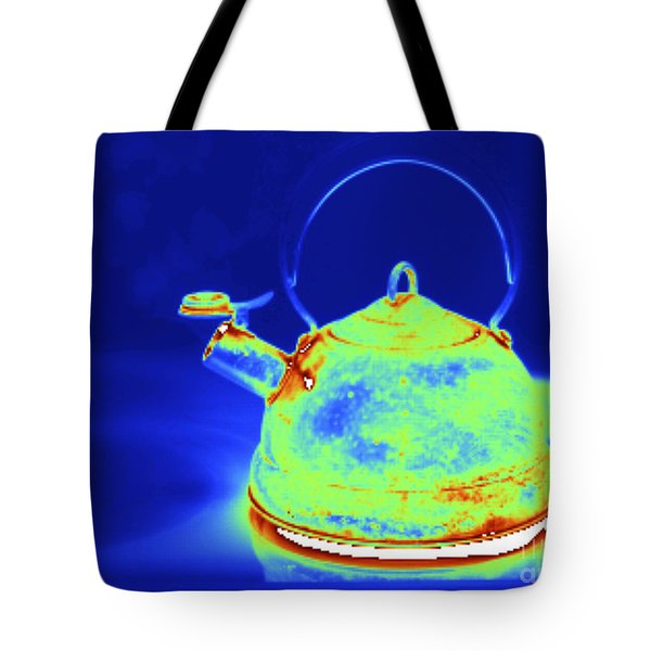 Thermogram Of Kettle Boiling Tote Bag