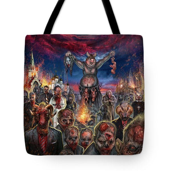 These Pigs Have Taken Over Tote Bag by Tony Koehl