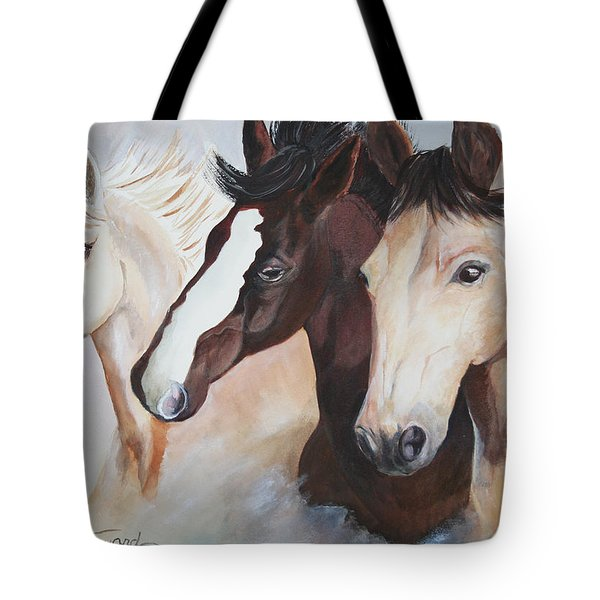 They Run Wild Tote Bag by Donna Steward