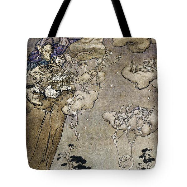 They Were Ruled By An Old Squaw Spirit Tote Bag by Arthur Rackham