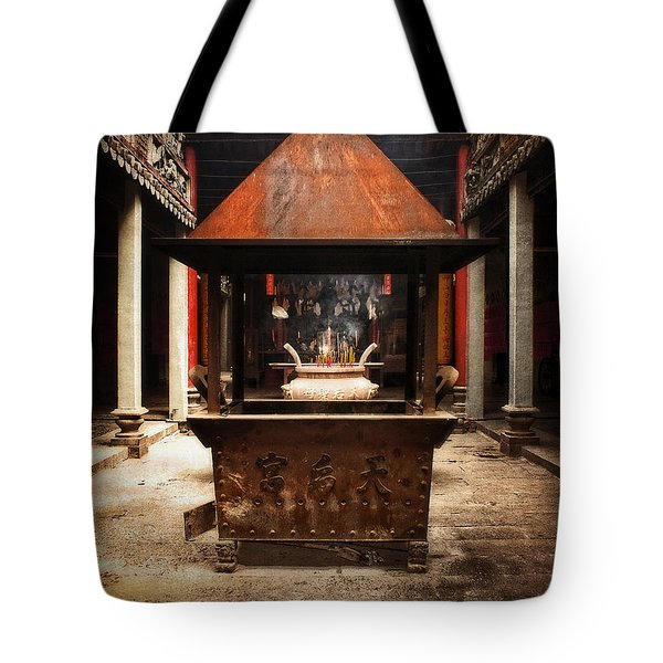 Tote Bag featuring the photograph Thien Hau Temple  by Lucinda Walter