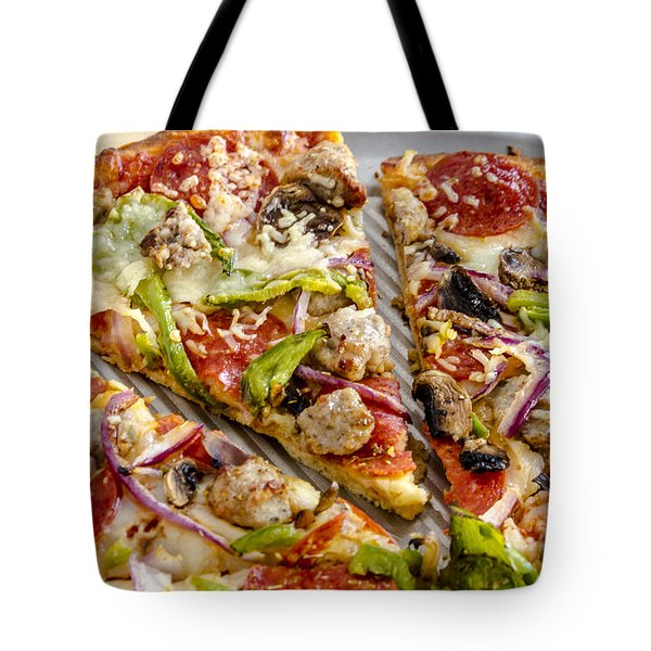 Thin Crust Supreme Pizza Tote Bag