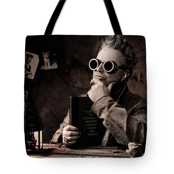 Things To Consider - Steampunk - World Domination Tote Bag by Gary Heller