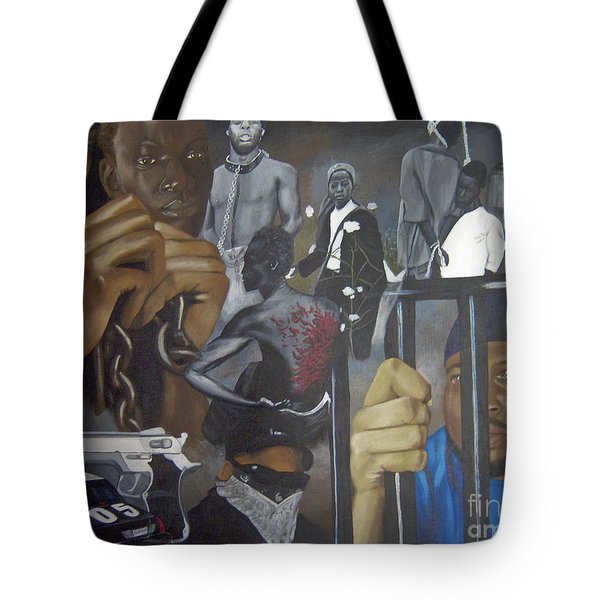 Think Black Man Tote Bag by Chelle Brantley