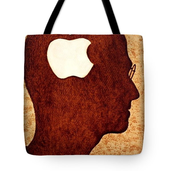 Think Different Tribute To Steve Jobs Tote Bag by Georgeta  Blanaru