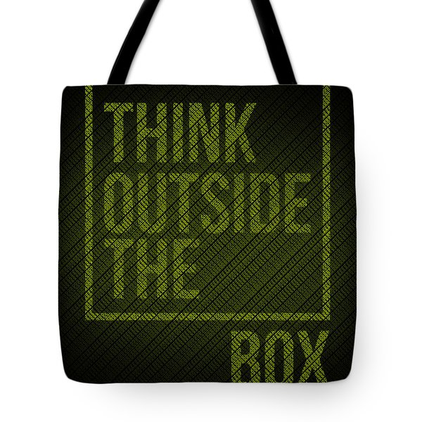 Think Outside Of The Box Poster Tote Bag