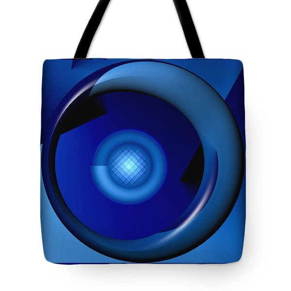Thinking Of Blue Tote Bag