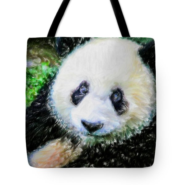 Thinking Of David Panda Tote Bag by Lanjee Chee