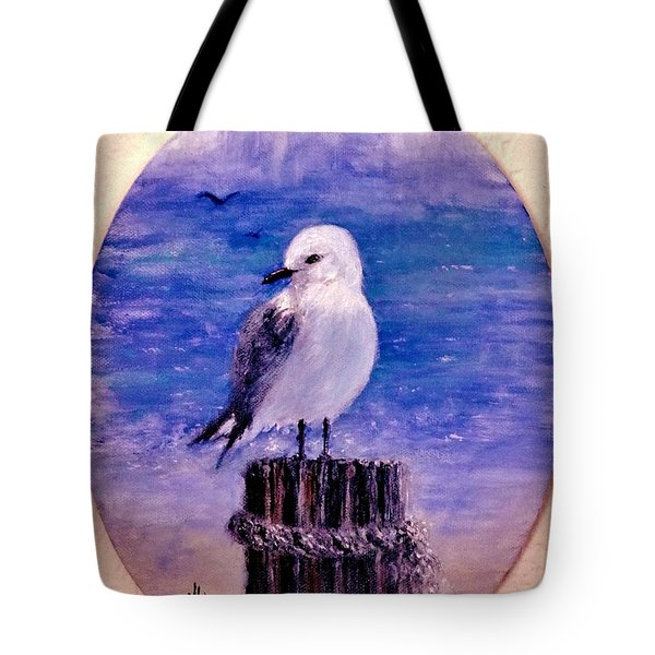 Tote Bag featuring the painting Thinking Of You.. by Cristina Mihailescu