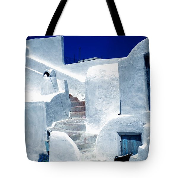 Thirasia Island Ancient House Near Santorini Greece Tote Bag