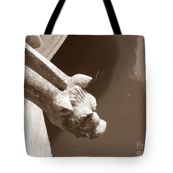 Thirsty Gargoyle - Sepia Tote Bag