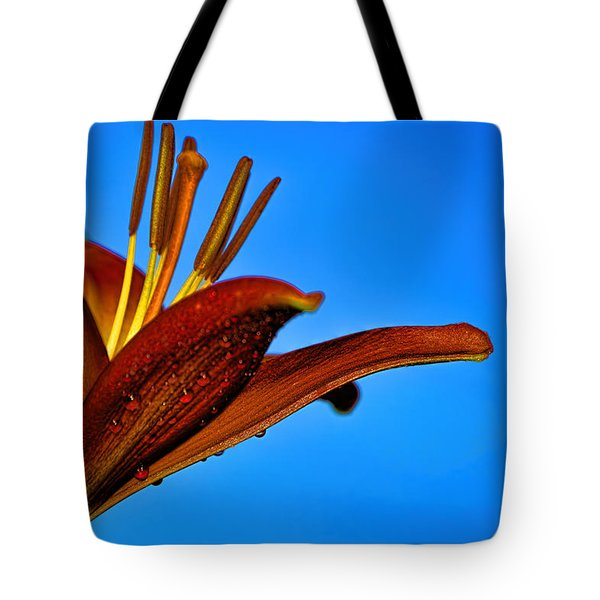 Thirsty Lily In Hdr Art Tote Bag by Lesa Fine