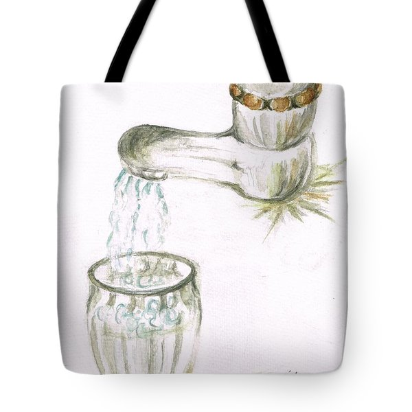 Tote Bag featuring the painting Thirsty Of Water by Teresa White