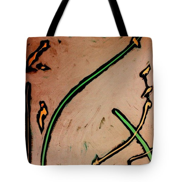 Tote Bag featuring the painting Thirteen by Jacqueline McReynolds