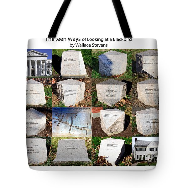 Thirteen Ways Of Looking At A Blackbird Tote Bag