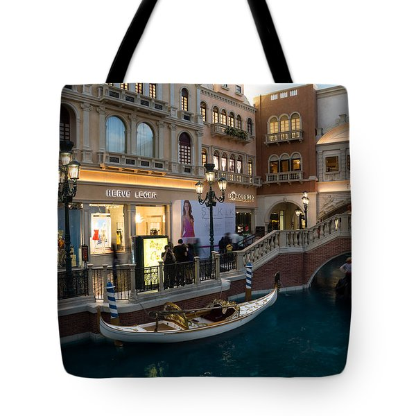 It's Not Venice - The White Wedding Gondola Tote Bag