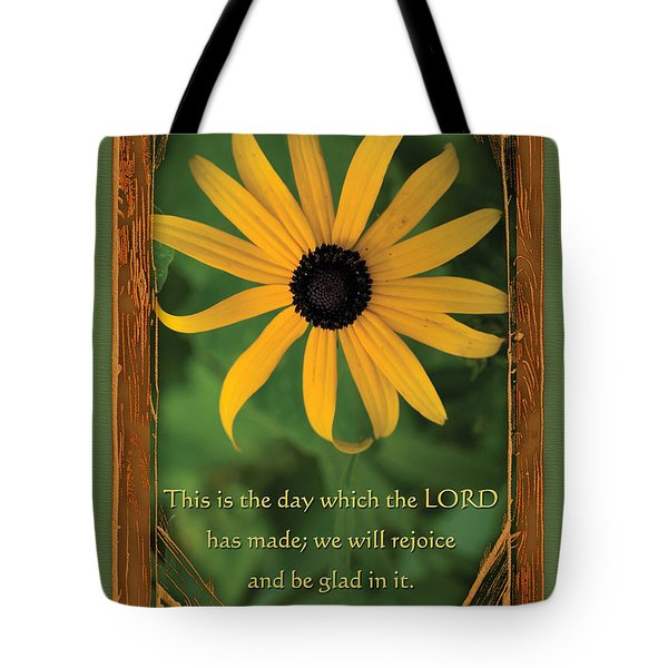 This Is The Day Sunflowers Tote Bag