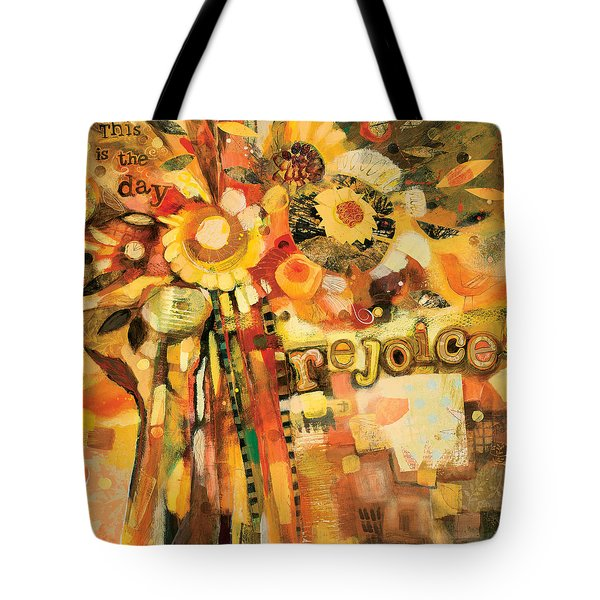 This Is The Day To Rejoice Tote Bag by Jen Norton