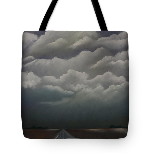 This Menacing Sky Tote Bag by Cynthia Lassiter