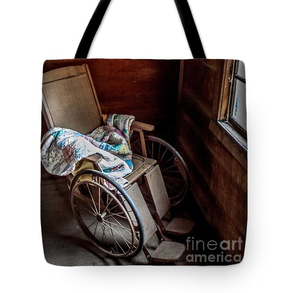 Wheelchair With A View Tote Bag