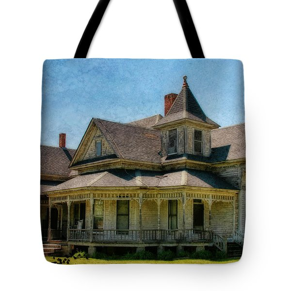 This Old House Tote Bag by Joan Bertucci