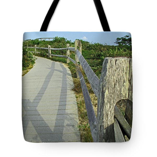 This Way To The Beach Tote Bag by Barbara McDevitt