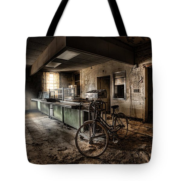 This Would Be The End - Cafeteria - Abandoned Asylum Tote Bag