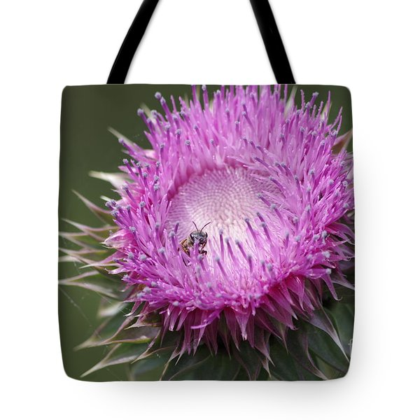 Thistle And The Bee Tote Bag