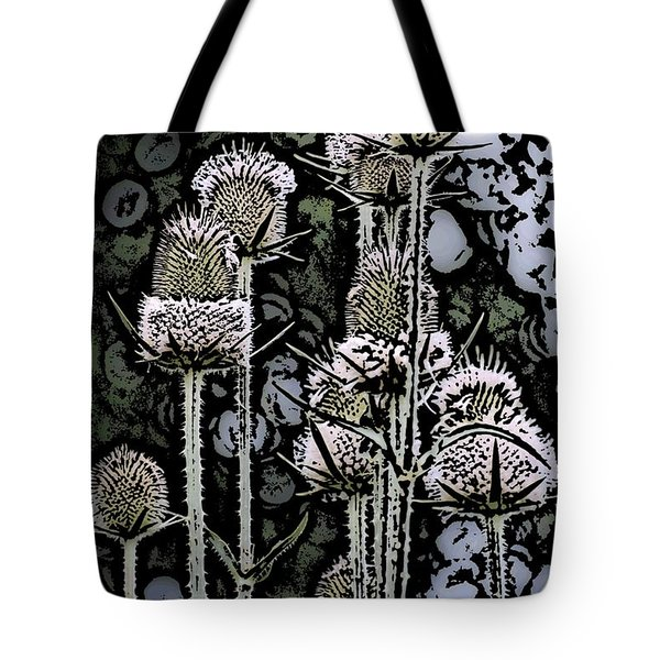 Tote Bag featuring the digital art Thistle  by David Lane