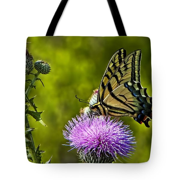 Tote Bag featuring the photograph Thistle Do Just Fine by Gary Holmes