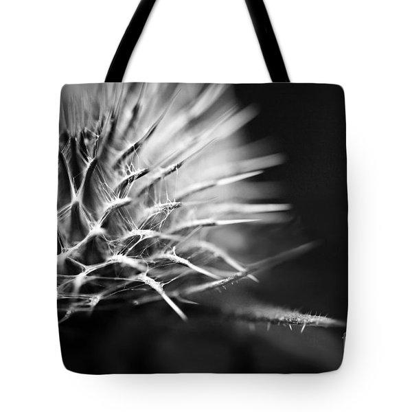 Thistle In Monochrome Tote Bag by Liz  Alderdice