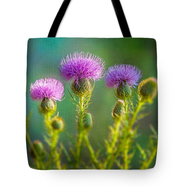 Thistle In The Sun Tote Bag