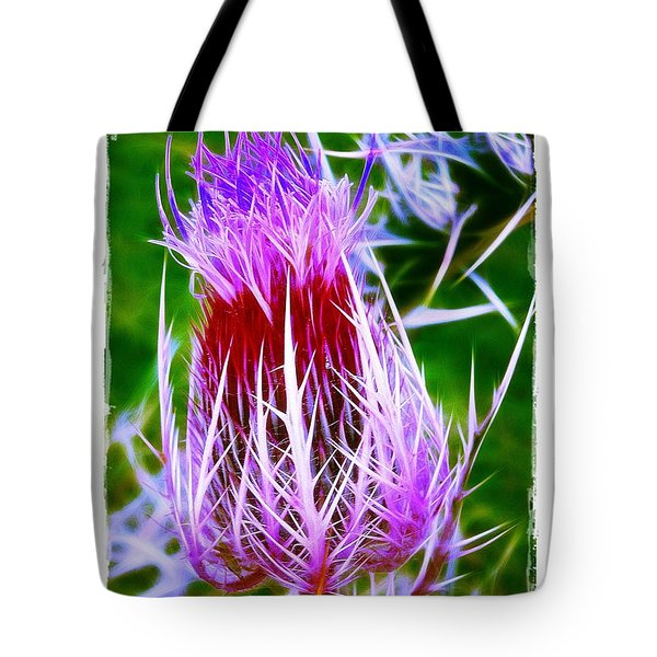 Thistle Tote Bag by Judi Bagwell