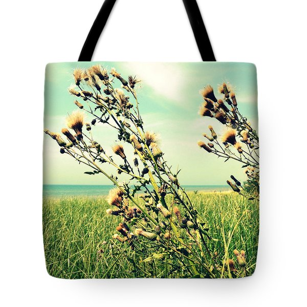Thistle On The Beach  Tote Bag by Michelle Calkins