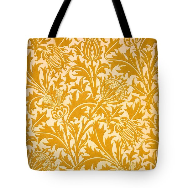 Thistle Wallpaper Design, Late 19th Tote Bag