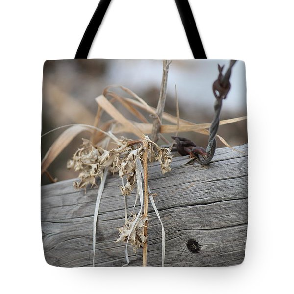 Thistles And Barbed Wire Tote Bag