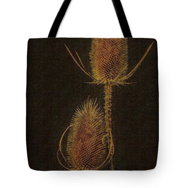 Tote Bag featuring the photograph Thistles by Hanny Heim