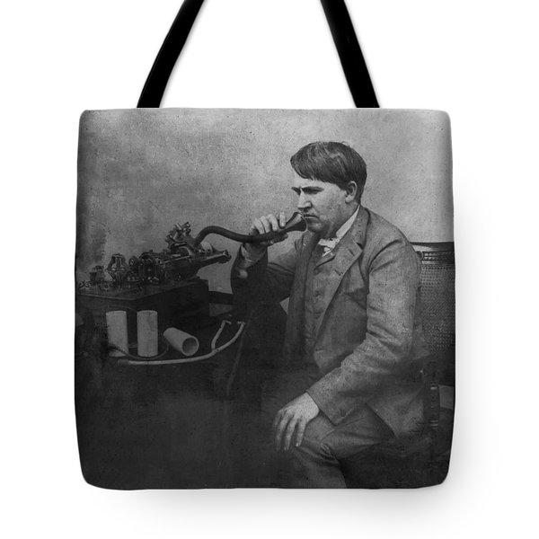 Thomas Alva Edison 1892 Tote Bag by Bill Cannon