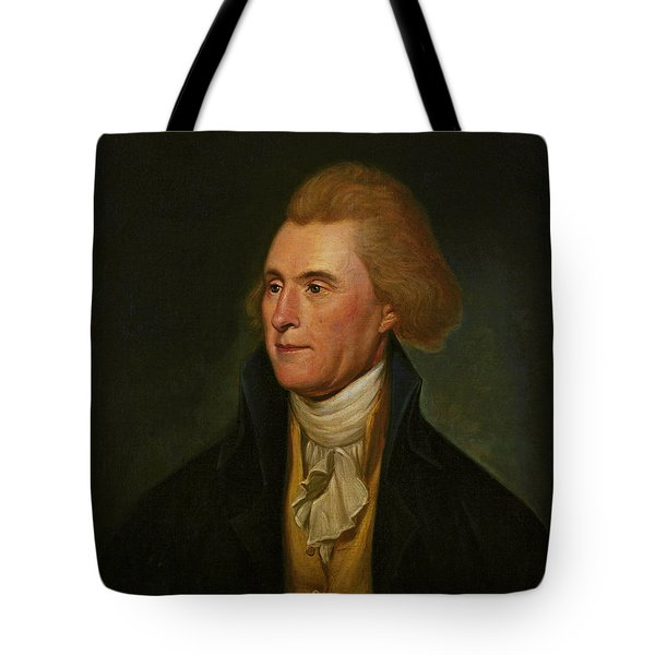 Thomas Jefferson Tote Bag by Charles Wilson Peale