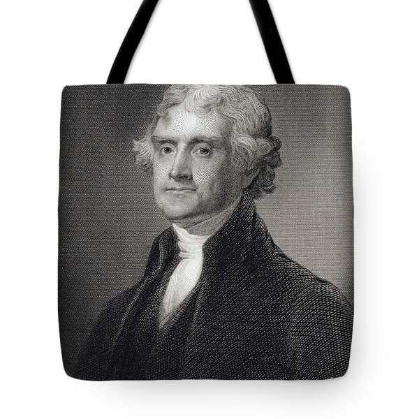 Thomas Jefferson Tote Bag by Gilbert Stuart