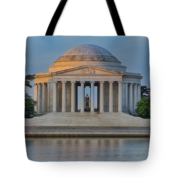 Thomas Jefferson Memorial At Sunrise Tote Bag by Sebastian Musial