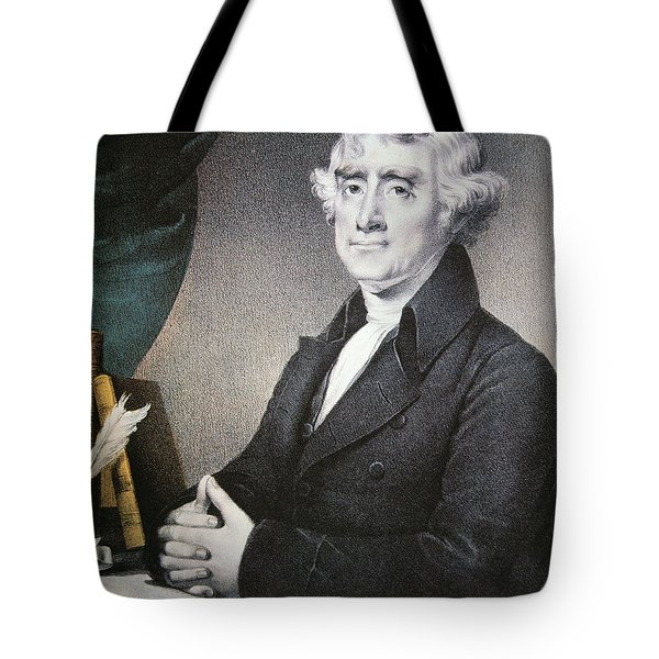 Thomas Jefferson Tote Bag by Nathaniel Currier