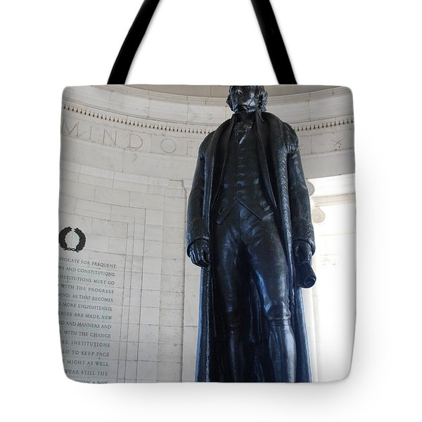 Thomas Jefferson Statue Tote Bag