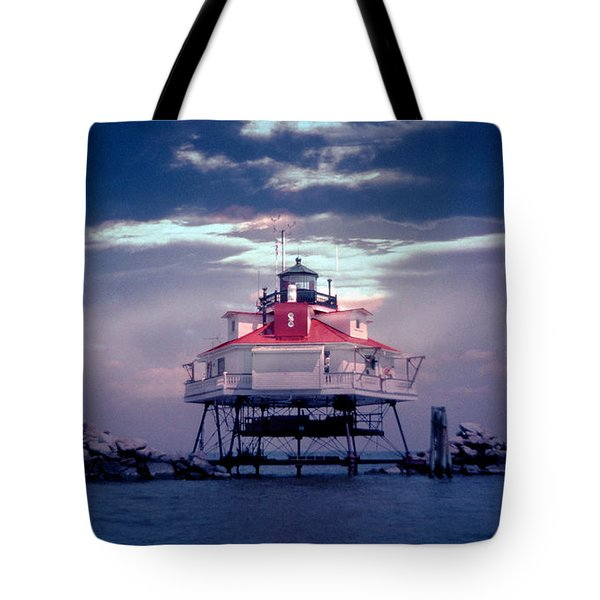 Thomas Pt.  Shoal Lighthouse Tote Bag