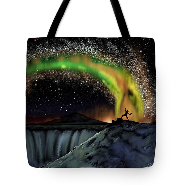 Thor And Jormungand Tote Bag
